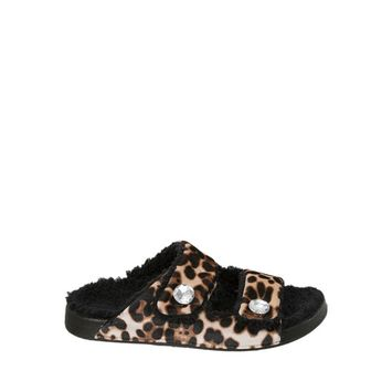 Dearfoams - Dearfoams Women's Double Strap Slide Slippers [name: shoe_size value: shoe_size-7-8]