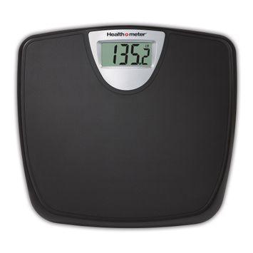 Health O Meter Weight Tracking Digital Bathroom Scale, Black