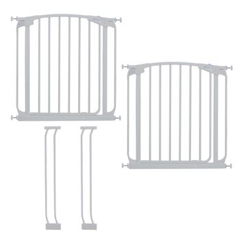 Chelsea Auto Close Metal Baby Gate Value Pack - White