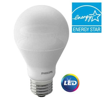 Philips Lightbulbs 60W Equivalent Soft White A19 Dimmable LED with Warm Glow Light Effect Household Light Bulb 455840
