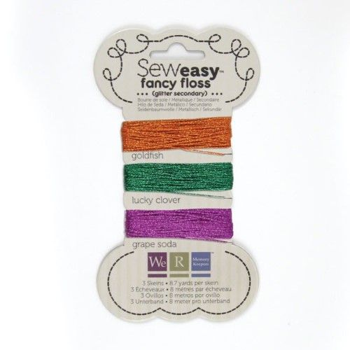 We R Memory Keepers Sew Easy Glitter Floss, Secondary