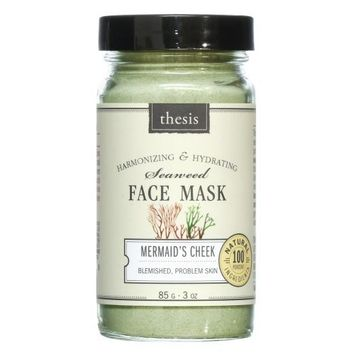 Organic Natural Face Mask for Oily, Combination, Problem, Acne prone Skin. Detoxing, balancing, with organic Kelp, French Green Clay. No synthetics, no preservatives, no toxins. 3 oz/85 g