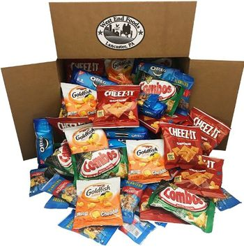 West End Foods Office Snacks Care Package Bundle Assortment Bulk Sampler, Variety Pack of 99, Crackers, Cookies, Combos, and Nuts