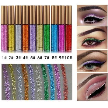 Coosa Glitter Liquid Eyeliner 10PCS 10 Colors Long Lasting Waterproof Sparkling Eyeliner Eye Shadow – 10PCS …