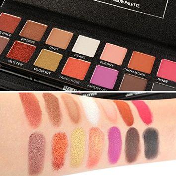 Binmer(TM) Fashion Women 14 Colors Eyeshadow Palette Luxury Golden Matte Nude Eye Shadow Palettes Lady Gift