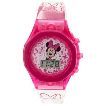 Disney Minnie Mouse Light Up Strap Watch