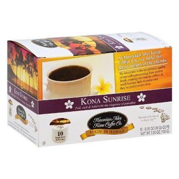 Hawaiian Isles Kona Sunrise Medium Roast Coffee - Single Serve Pods - 10ct
