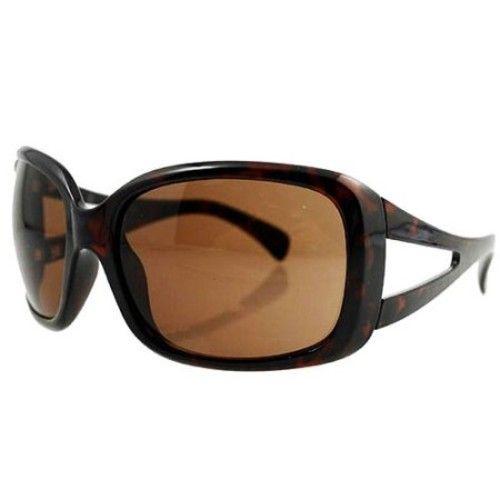 Women's Sunglasses, Tortoise Frames with Brown Lenses
