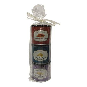 Gourmet Peanuts Christmas Gift Set: Honey Roasted Chipotle, Sea Salt & Pepper, Smokey Mozzarella