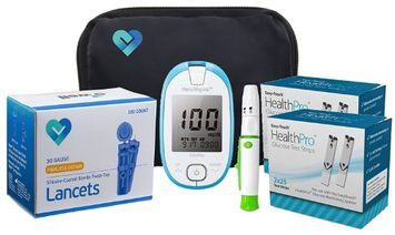 Owell Health Pro Complete Diabetes Blood Glucose Testing Kit