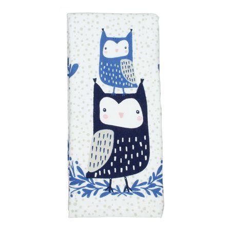 Mainstays Dual-Purpose Kitchen Towel, 100% Cotton, 1 Each, Owl Pair