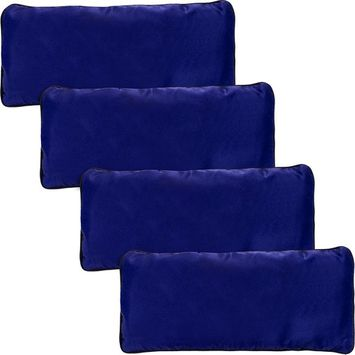 4 Pack Yoga Eye Pillow - Lavender and Flax Seed Aromatherapy Eye Mask for Meditation and Stress Relief by LISH (Blue)