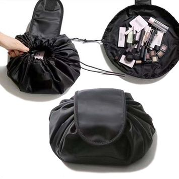 Obeya Waterproof Lazy Makeup Bag Drawstring Pouch Organizer Travel Portable Makeup Cosmetic Bag for Women