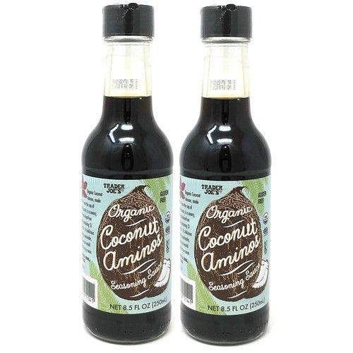 Trader Joe's Organic Coconut Aminos Seasoning Sauce 8.5 oz Bottle Sauce - 2-Pack!