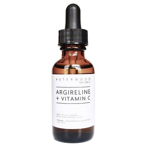 Asterwood Naturals ARGIRELINE Peptide + Vitamin C Serum with Organic Hyaluronic Aci