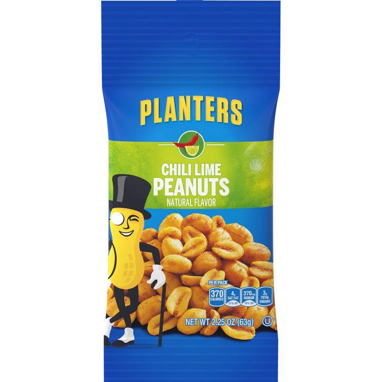 Planters Chili Lime Peanuts, 2.25 oz Bag