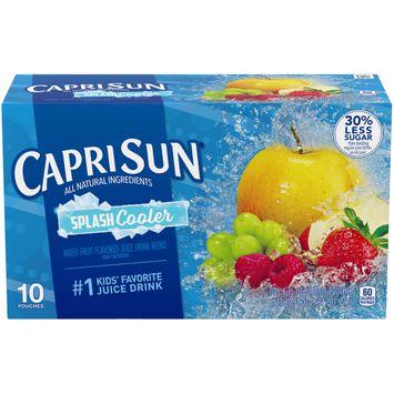 Capri Sun Splash Cooler Mixed Fruit Flavored Juice Drink Blend, 10 ct. Box