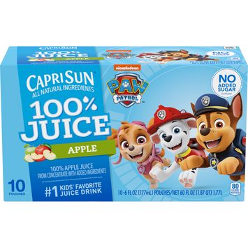 Capri Sun 100% Apple Juice from concentrate with other ingredients Pouches, 10 ct. Box