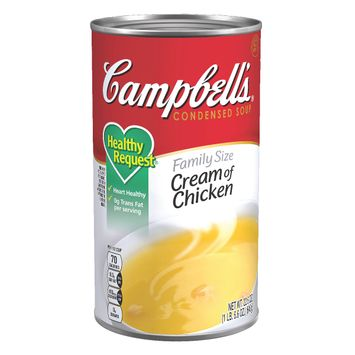 Campbell's® Condensed Healthy Request® Family Size Cream of Chicken Soup, 22.6 oz. Can