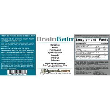 BrainGain 8 bottle package with (90 softgel per bottle)