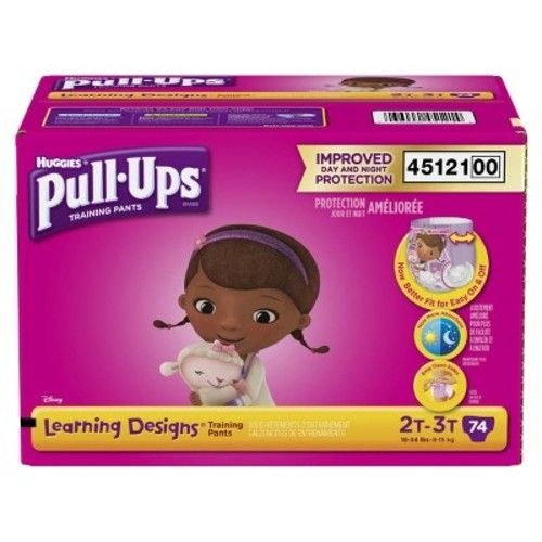 Huggies Pull-Ups Learning Designs Training Pants for Girls, 2T-3T, 74ct