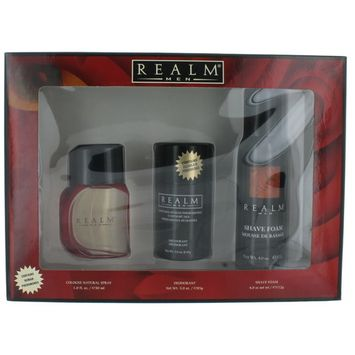Men by Realm for Men SET: Eau De Toilette 1 oz.+Deo Stick 3 oz.+Shave Foam 4 oz. New in Box