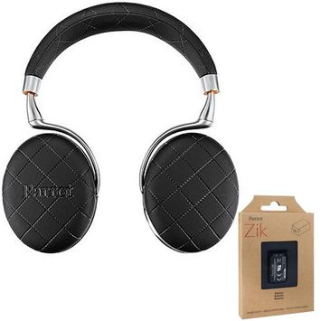 Parrot Zik 3 Wireless Noise Cancelling Bluetooth Headphones Blk Overstitched + Battery