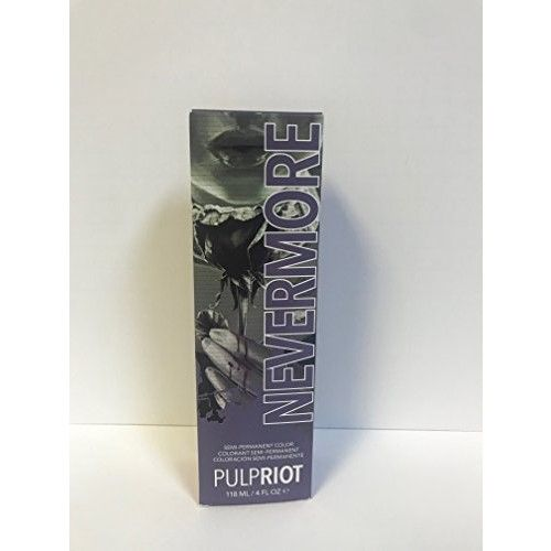 PULP RIOT SEMI PERMANENT HAIR COLOR NEVERMORE - 4oz (Raven Collection)