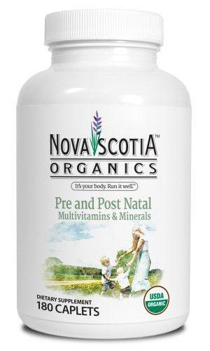 Nova Scotia Organics Pre and Post Natal Multivitamins and Minerals Caplet, 180 Ct