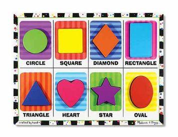 Melissa & Doug - 3730 | Chunky Puzzle: Shapes (8 Pieces)