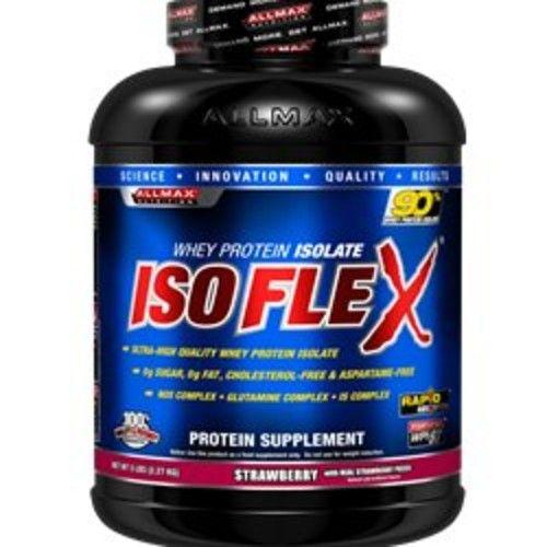 ALLMAX Nutrition ISOFLEX 100% Ultra-Pure Whey Protein Isolate, Strawberry, 5 lb [Strawberry]