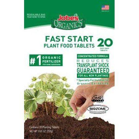 Jobes 7920 20CT Jobes Organics Fast Start Plant Food Tablets