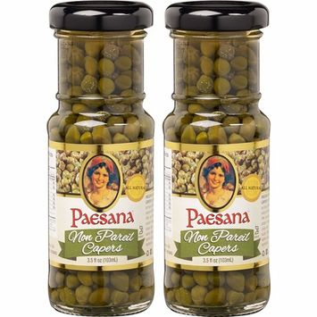 Paesana Capers, Non Pareil Capers, 3.5 Fl Oz (Pack of 2, Total of 7 Fl Oz)