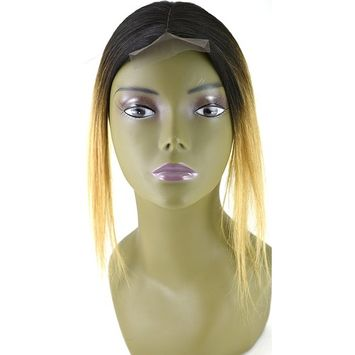 Invisible Lace Closure Natural Brazillian Virgin Remy 100% 12'' Human Hair Color: Ombre 1B/27