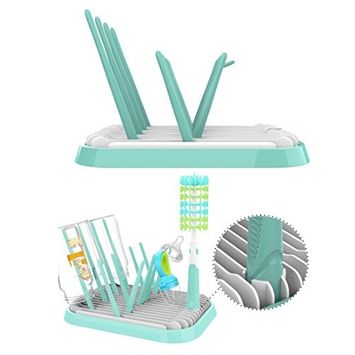 BPA-Free Foldable Baby Bottle Drying Rack, Nipples and Feeding Accessories