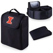 Picnic Time 715-00-179-214-0 University of Illinois Digital Print Trunk Boss in Black with Cooler