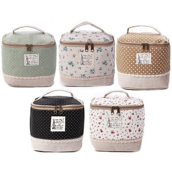 Portable Multifunction Travel Cosmetic Bag Makeup Case Pouch Toiletry Organizer Case Carry Tote