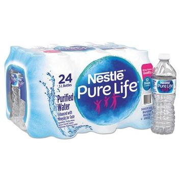 Nestle 101264CT Pure Life Purified Water, 16.9 oz Bottle, 24/Carton