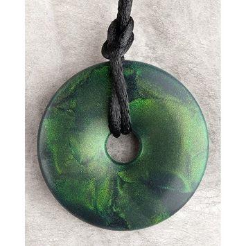 Teething Bling Emerald Green Shimmer Pendant