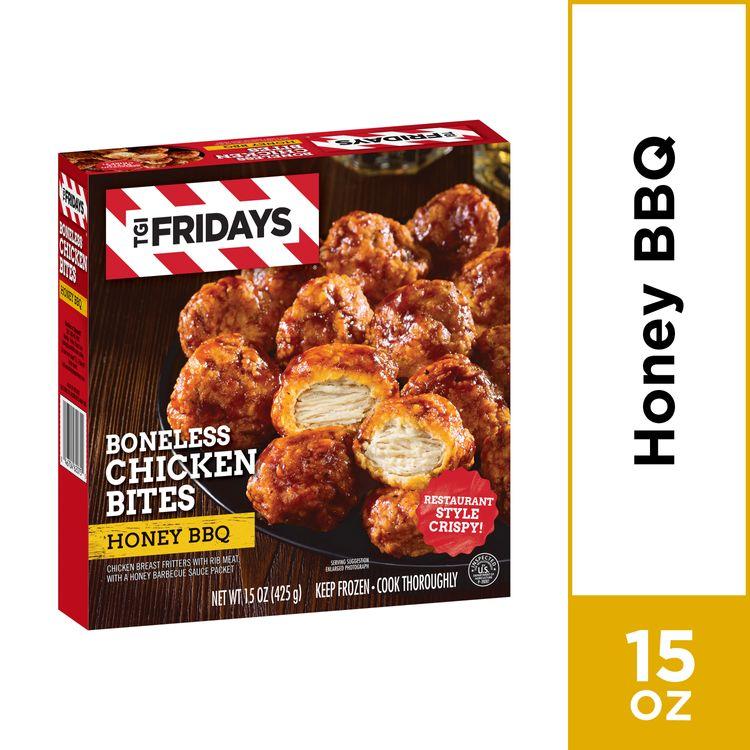 TGI Fridays Honey BBQ Boneless Chicken Bites, Frozen Appetizer, 15 oz Box