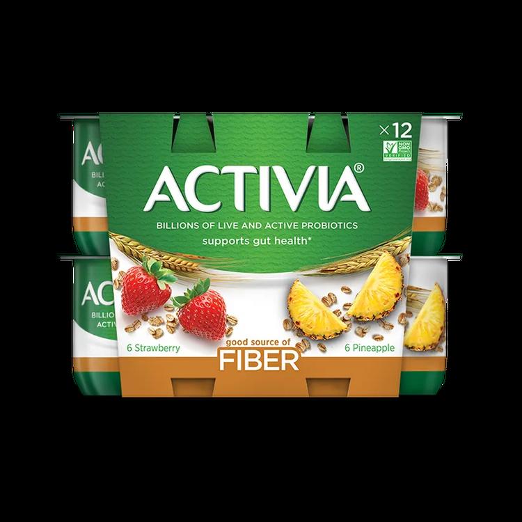 Activia Fiber Straw/Pineapple 12X40Z