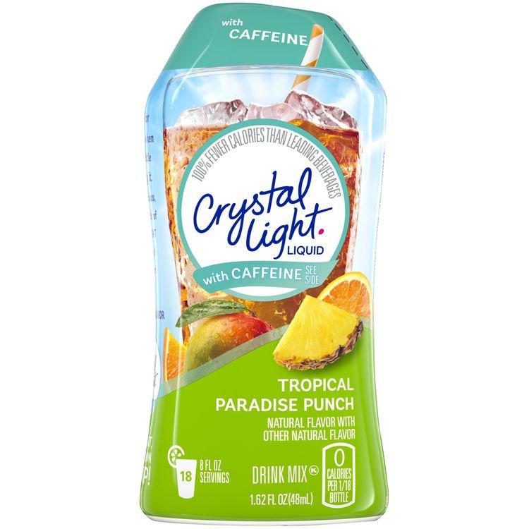 Crystal Light Tropical Paradise Punch Liquid Drink Mix with Caffeine, 1.62 fl oz Bottle