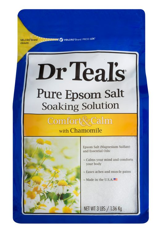 Dr Teal's Epsom Salt Soaking Solution, Chamomile, 48 Ounce