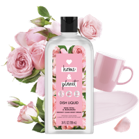 Love Home & Planet Rose Petal & Murumuru Dish Liquid