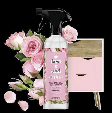 Love Home & Planet Rose Petal Multipurpose Cleaner Spray