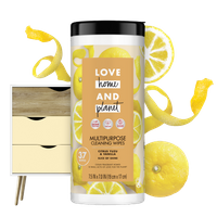 Love Home & Planet Citrus Yuzu & Vanilla Multipurpose Cleaning Wipes