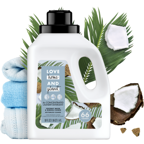 Love Home & Planet Coconut Water & Mimosa Flower Laundry Detergent