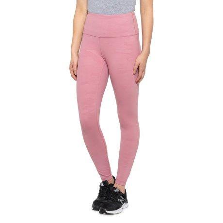 Fox Glove Combo Interlink Camo-Embossed High-Rise Ankle Leggings (For Women) - FOX GLOVE COMBO (M )