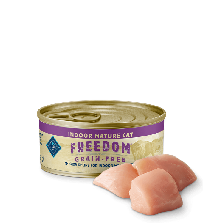 Blue Freedom™ Wet Senior Cat Food Grain-Free (Indoor) - Chicken