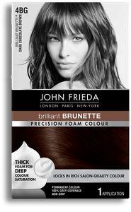 John Frieda Precision Foam Colour 4BG Brilliant Brunette® Dark Chocolate Brown